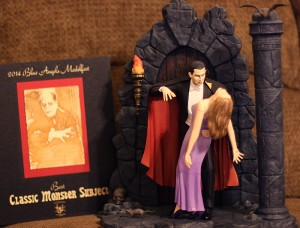 Bela Lugosi as Dracula. This model won a special price for 'best classic monster subject'